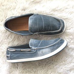 Tommy Hilfiger Irving Denim Boat Loafer Shoes Blue